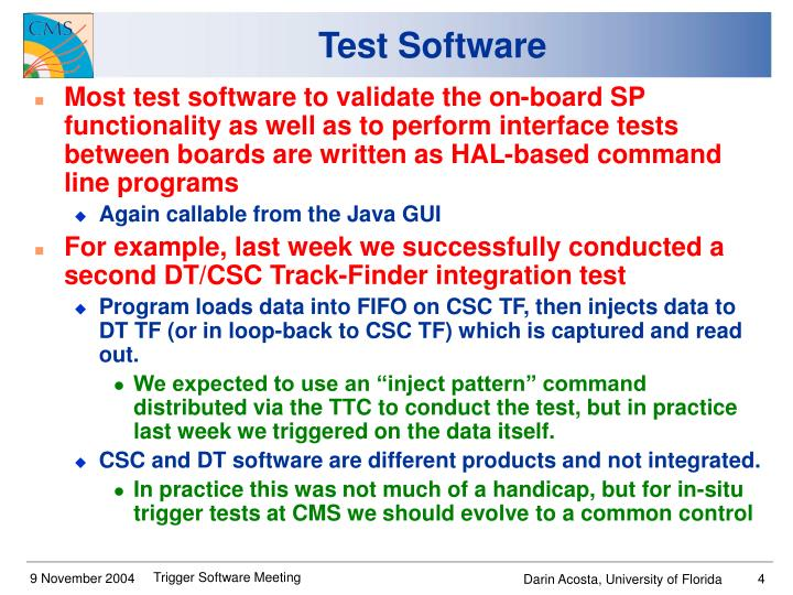 Test Software