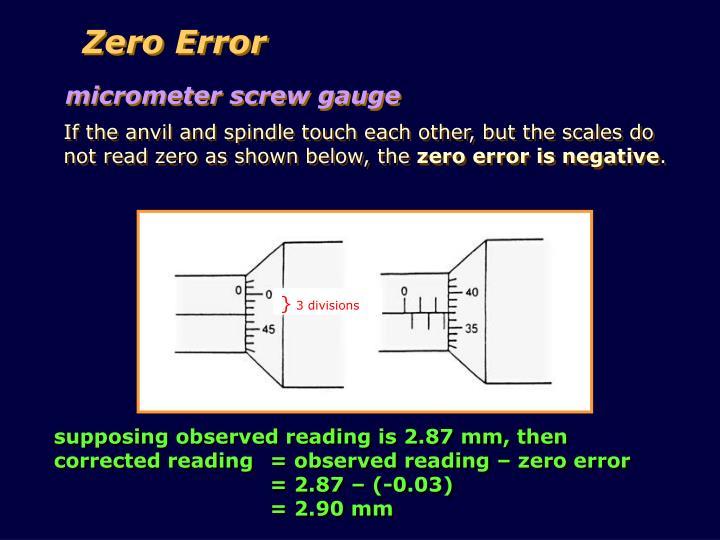 Zero Error