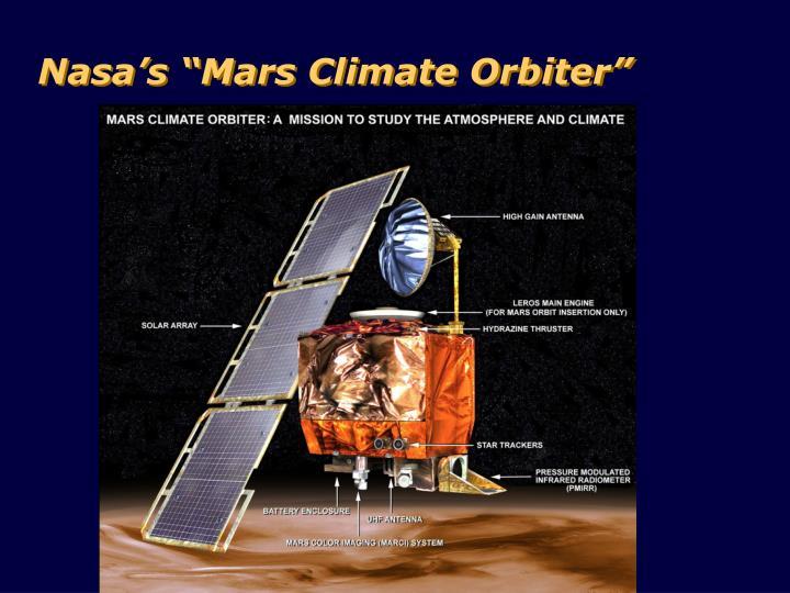 "Nasa's ""Mars Climate Orbiter"""