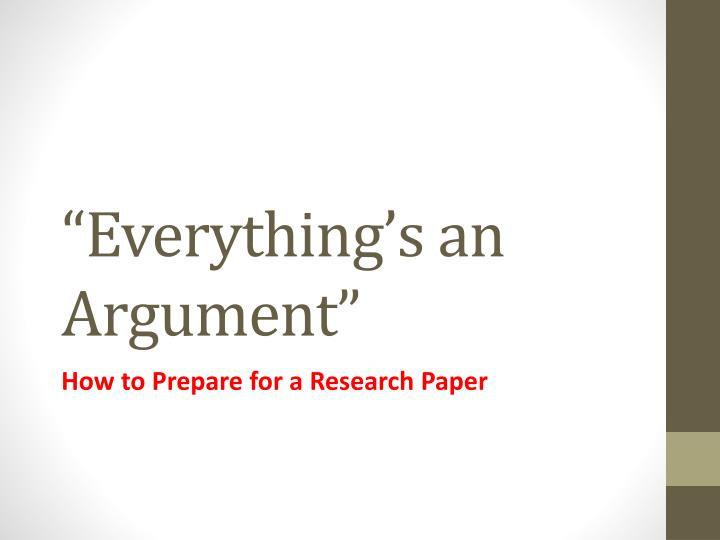 how to write a argument research paper
