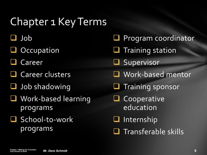 Chapter 1 Key Terms