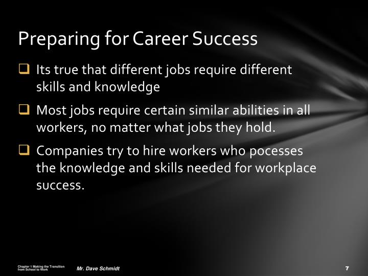 Preparing for Career Success