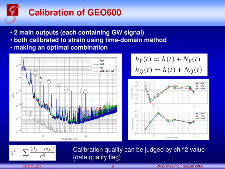 Calibration of GEO600