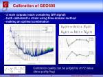 calibration of geo600