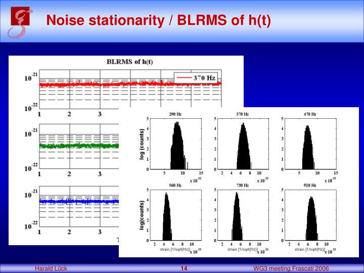 Noise stationarity / BLRMS of h(t)