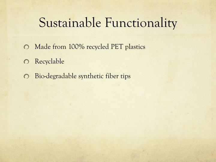 Sustainable Functionality