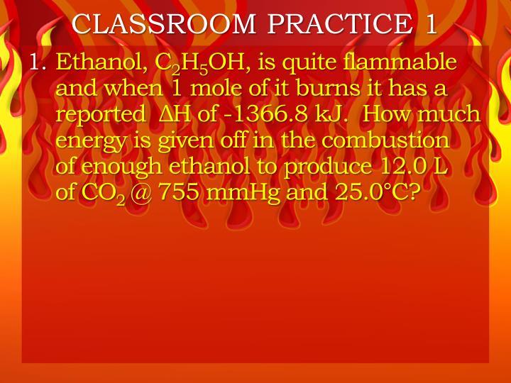 CLASSROOM PRACTICE 1