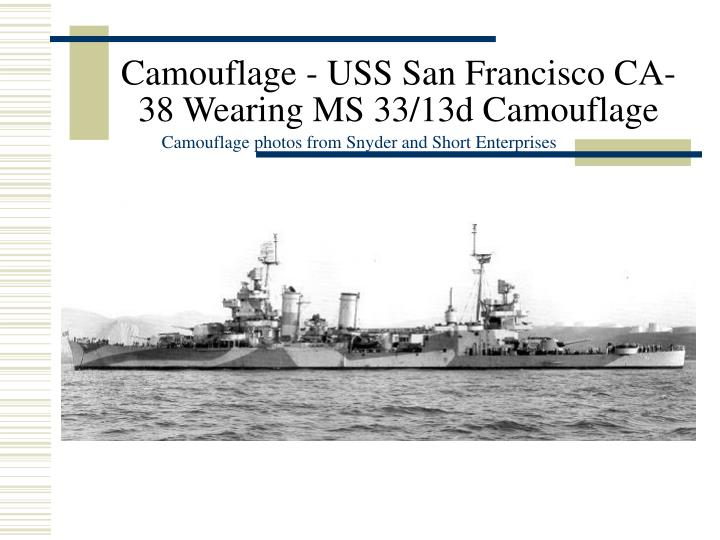 Camouflage - USS San Francisco CA-38 Wearing MS 33/13d Camouflage