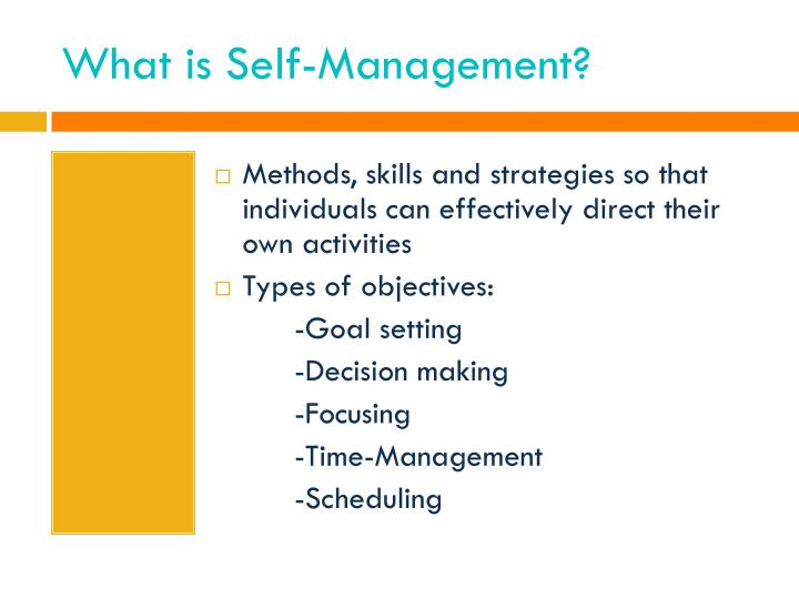 What is Self-Management?