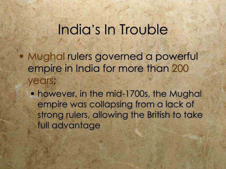 India s in trouble