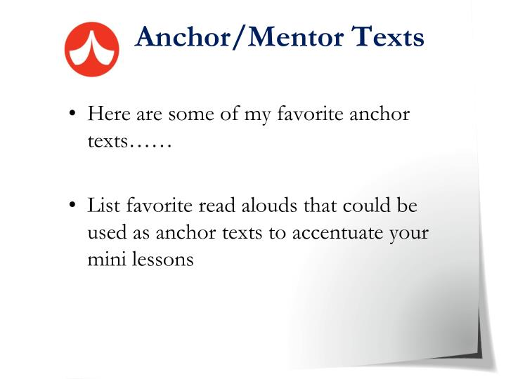 Anchor/Mentor Texts