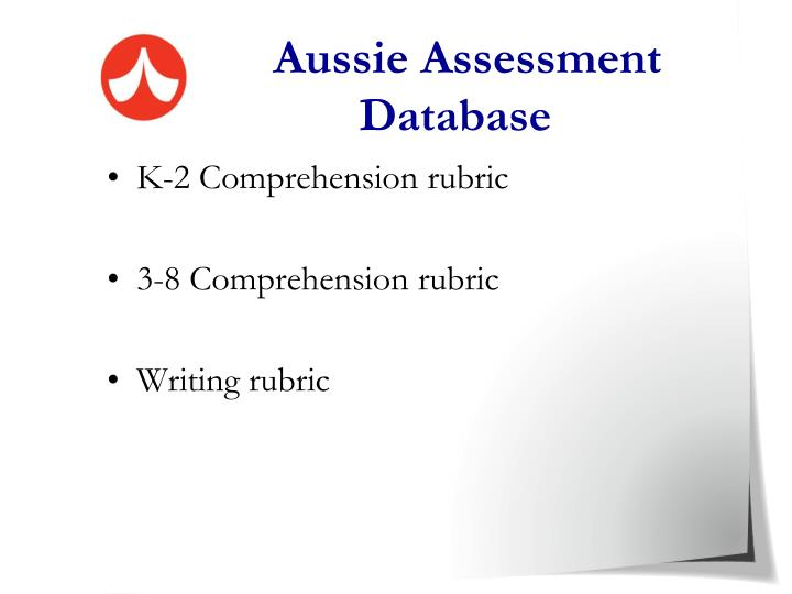 Aussie Assessment Database
