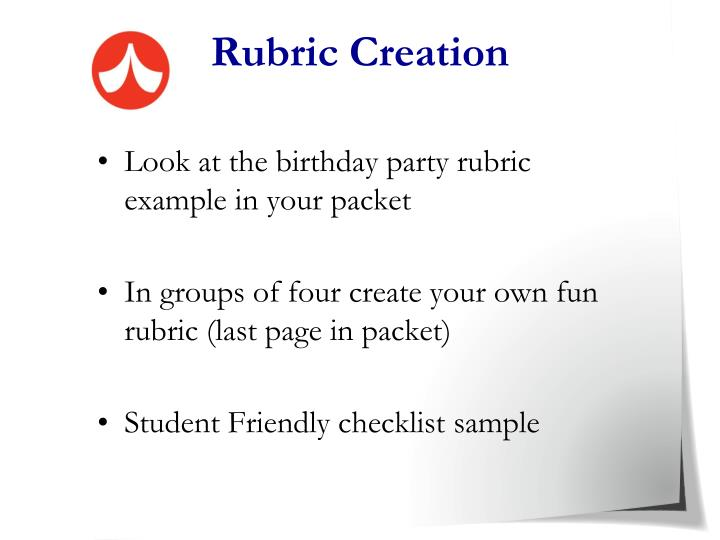 Rubric Creation