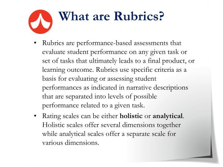 What are Rubrics?