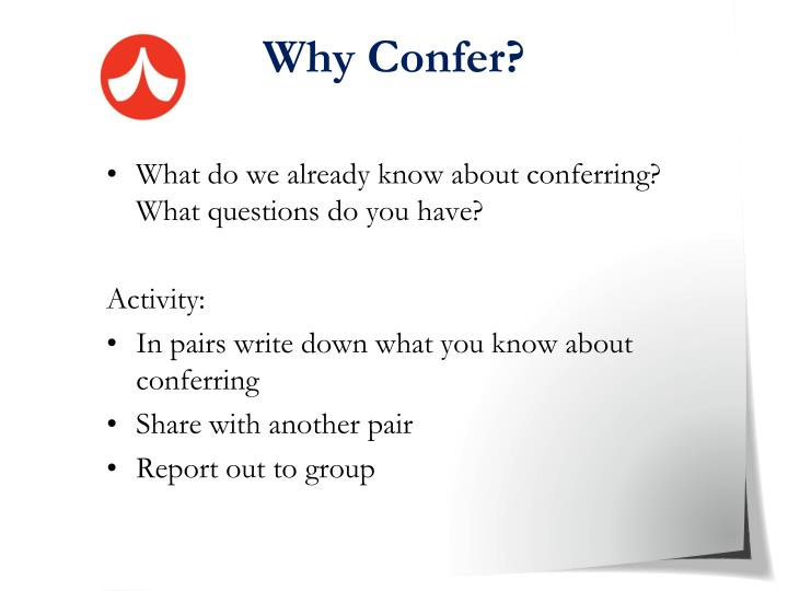 Why Confer?