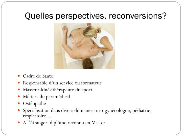 Quelles perspectives, reconversions?