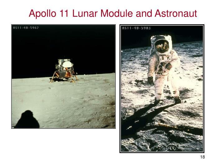 Apollo 11 Lunar Module and Astronaut