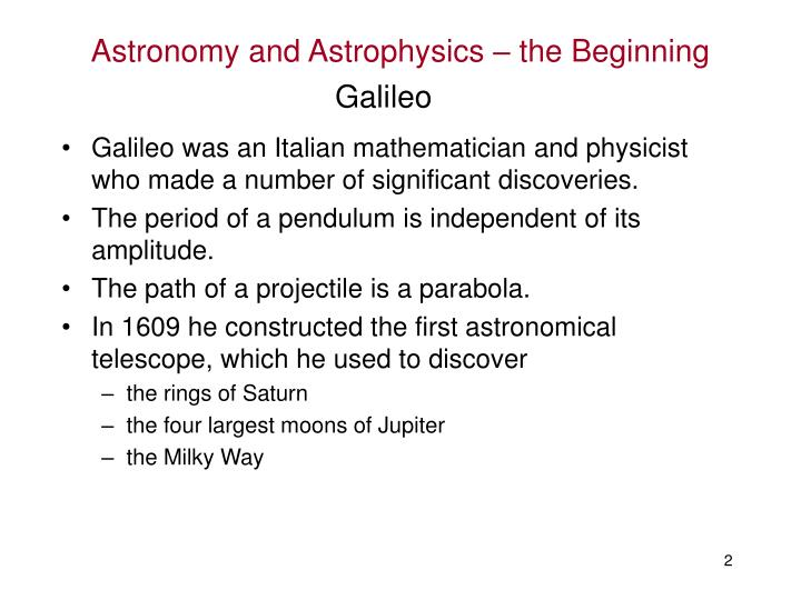 Astronomy and astrophysics the beginning1