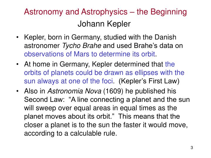 Astronomy and astrophysics the beginning2