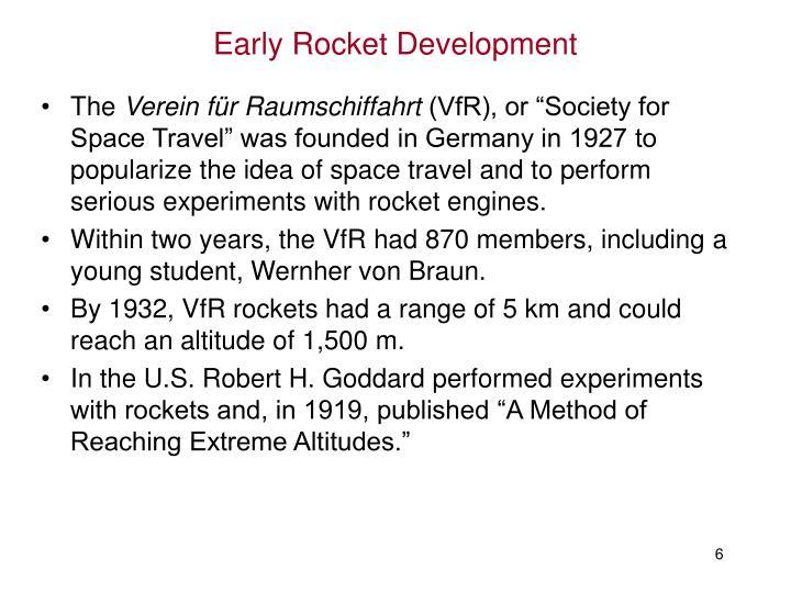 Early Rocket Development