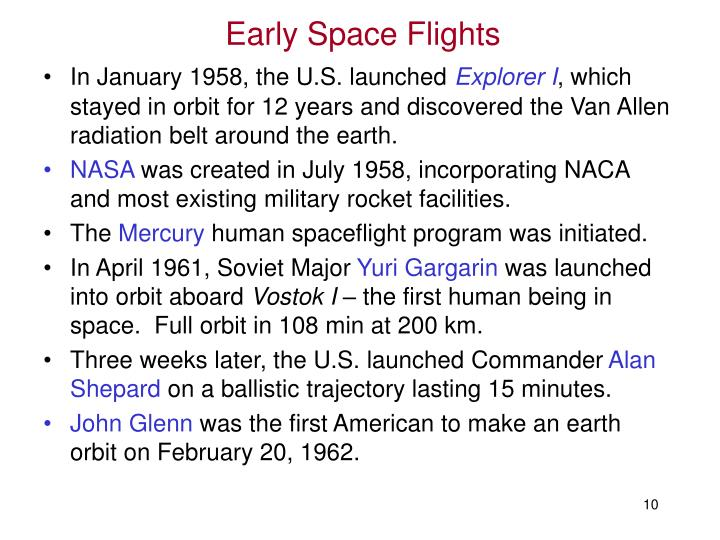Early Space Flights