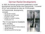 german rocket developments