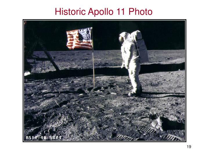 Historic Apollo 11 Photo