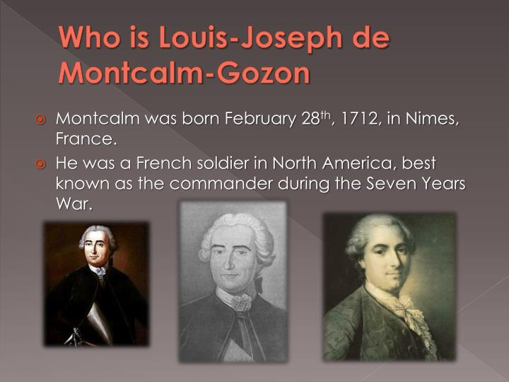 Who is louis joseph de montcalm gozon