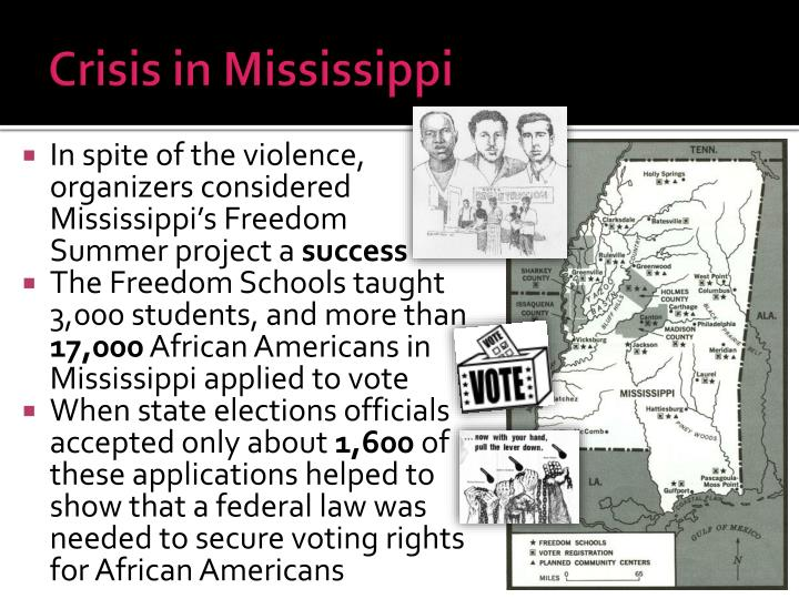 Crisis in Mississippi
