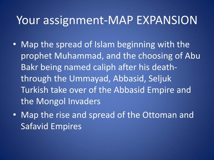 Your assignment map expansion