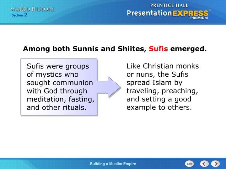 Among both Sunnis and Shiites,