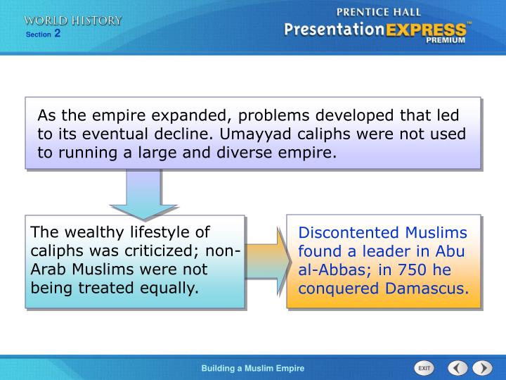 The wealthy lifestyle of caliphs was criticized; non-Arab Muslims were not being treated equally.