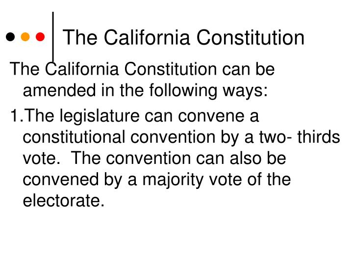The California Constitution