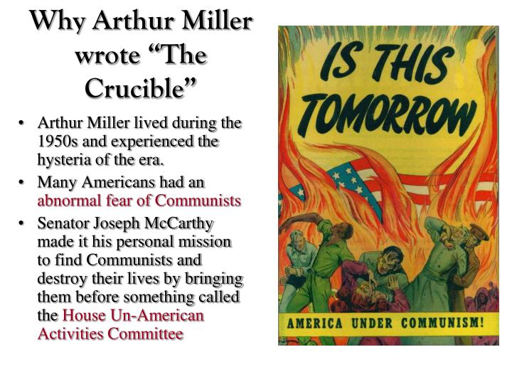 arthur miller essay why i wrote the crucible The crucible arthur miller essays - the crucible by arthur miller.