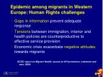 epidemic among migrants in western europe human rights challenges