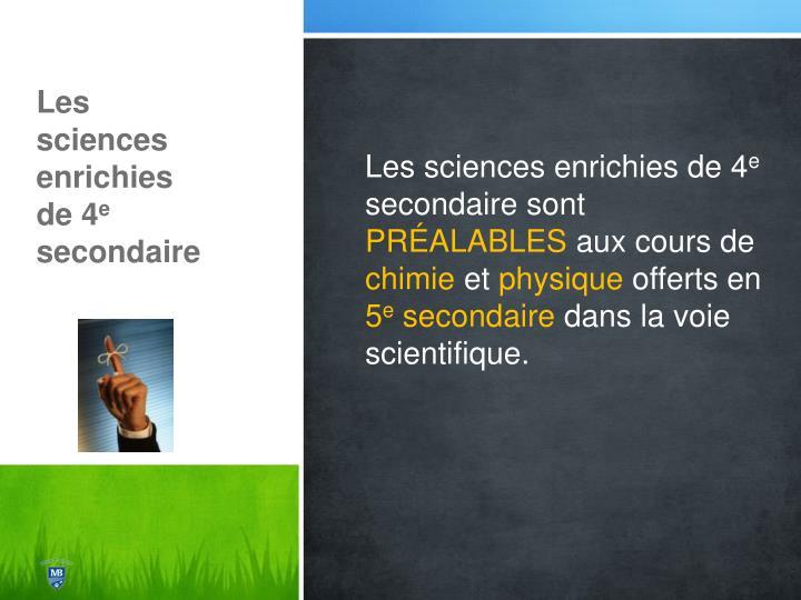 Les sciences enrichies