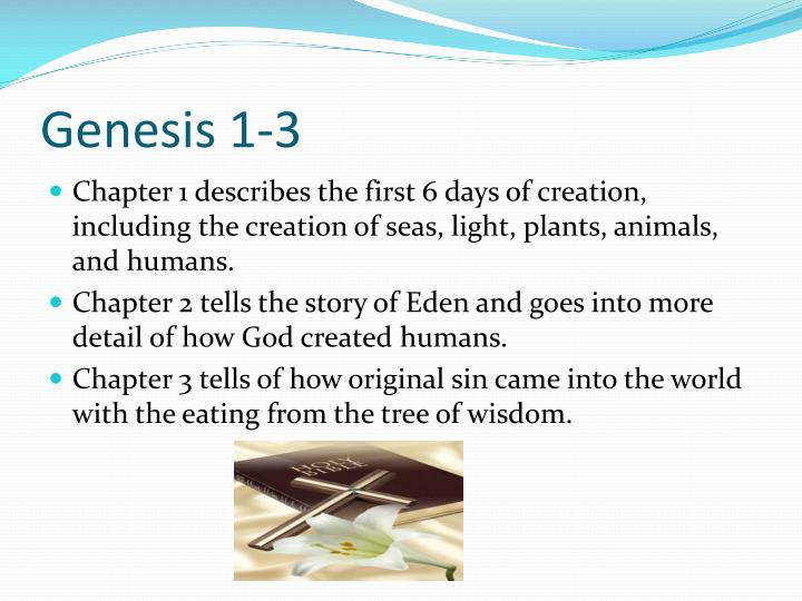 Genesis 1-3