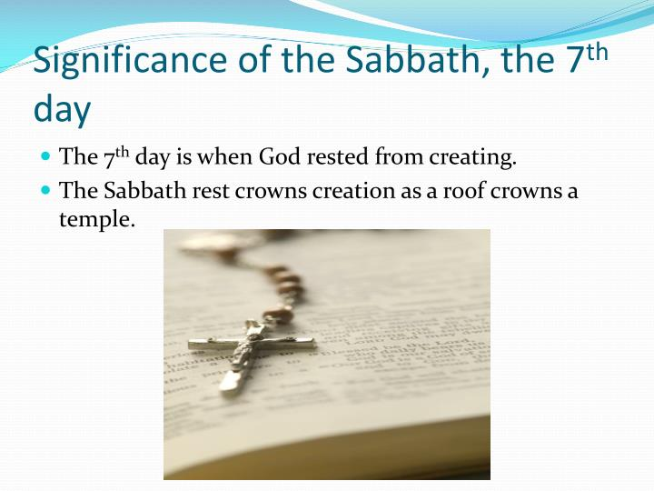 Significance of the Sabbath, the 7