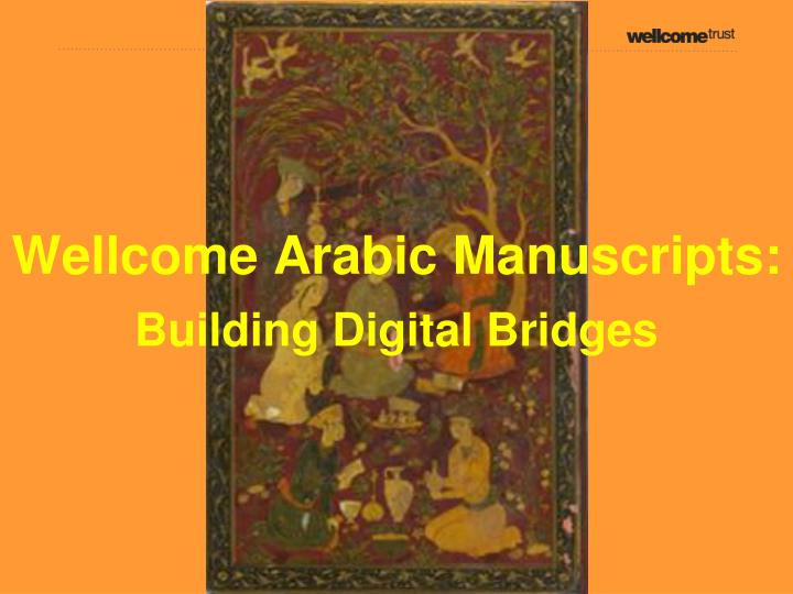 Wellcome arabic manuscripts
