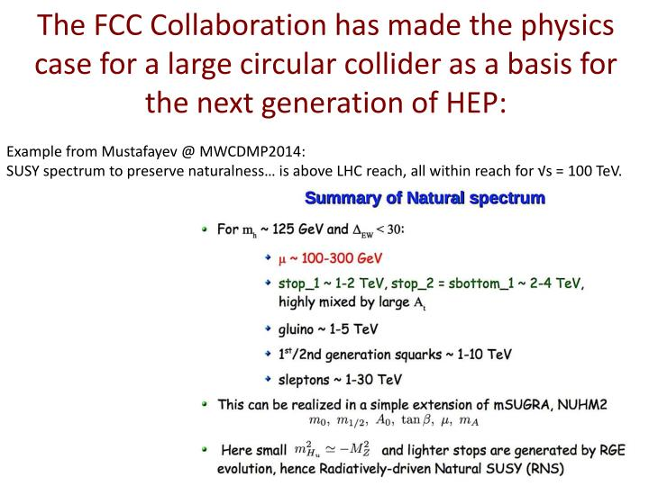 The FCC Collaboration has made the physics case for a large circular collider as a basis for the nex...