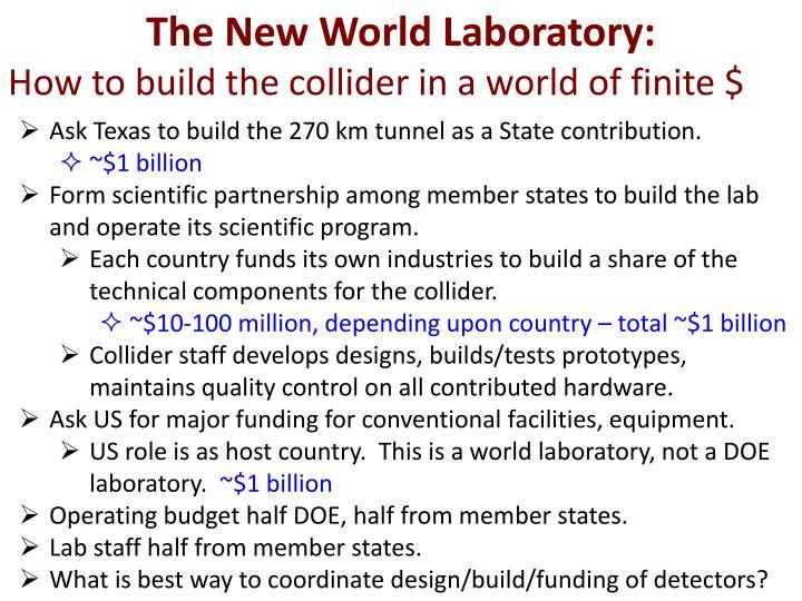 The New World Laboratory: