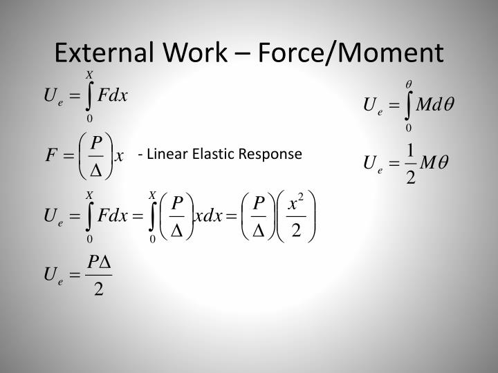 External work force moment
