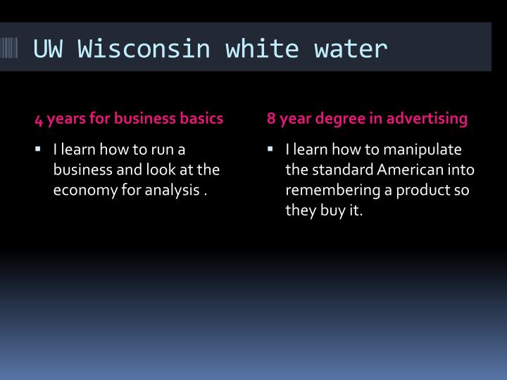 UW Wisconsin white water