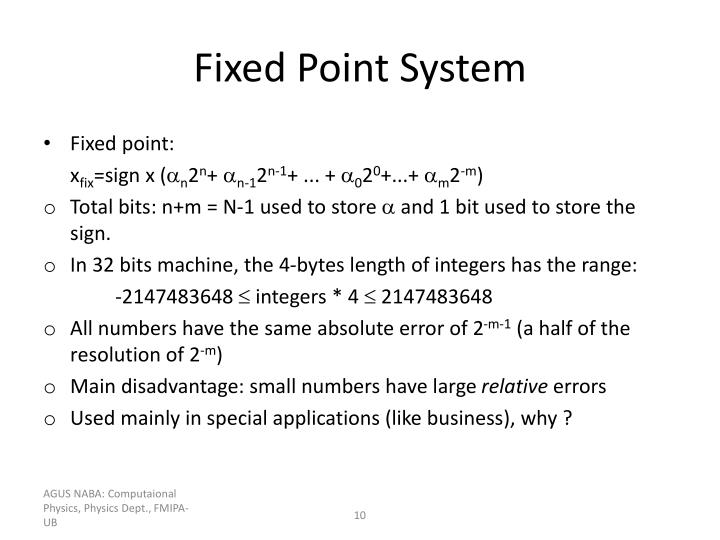 Fixed Point System