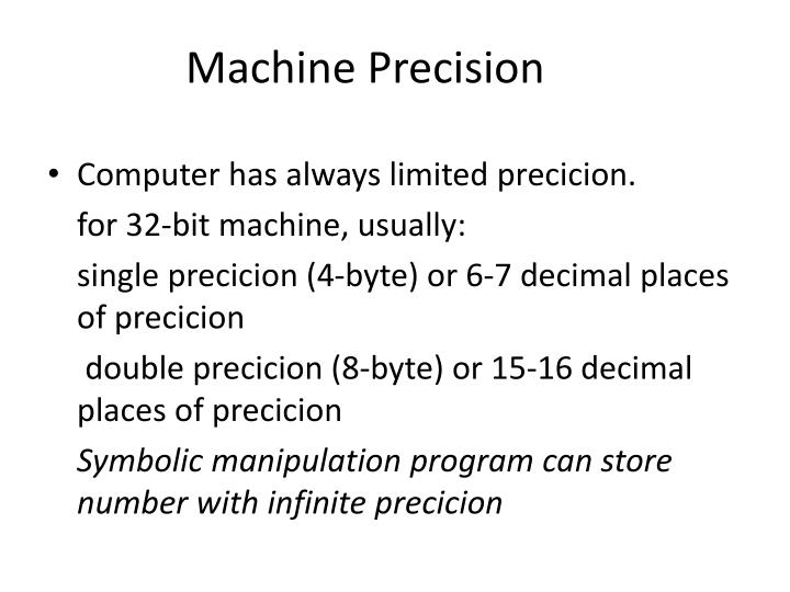 Machine Precision