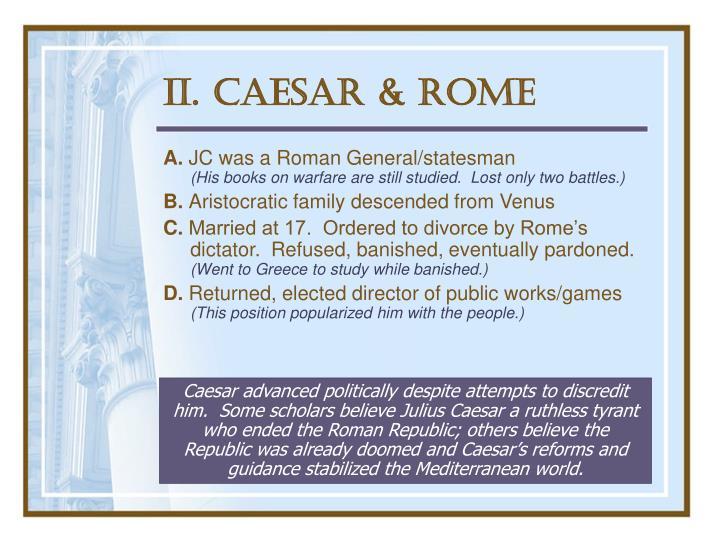II. Caesar & Rome