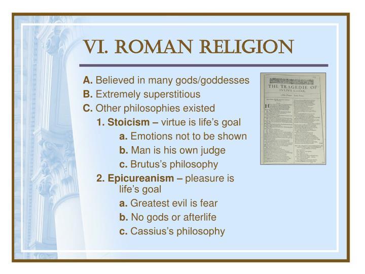 VI. Roman Religion