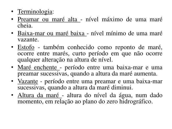 Terminologia