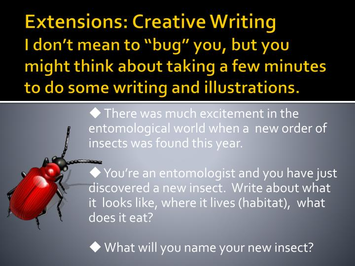 Extensions: Creative Writing