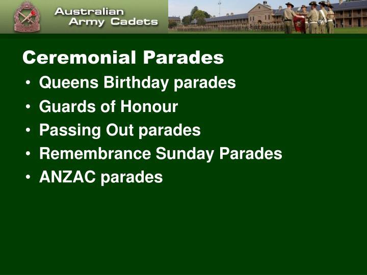 Ceremonial Parades